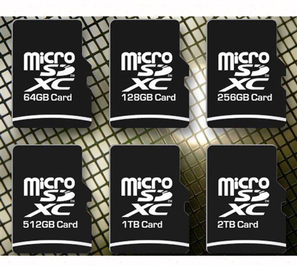 какие бывыют карты памяти micro sd