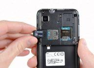 карту памяти ставим в телефон