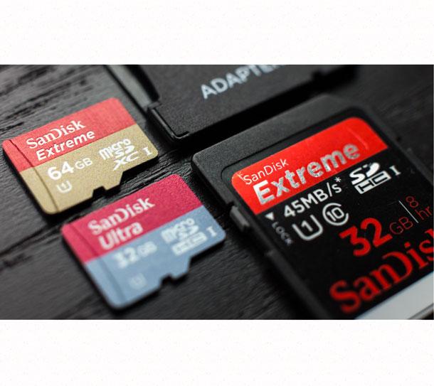 micro SD карта и SD карта