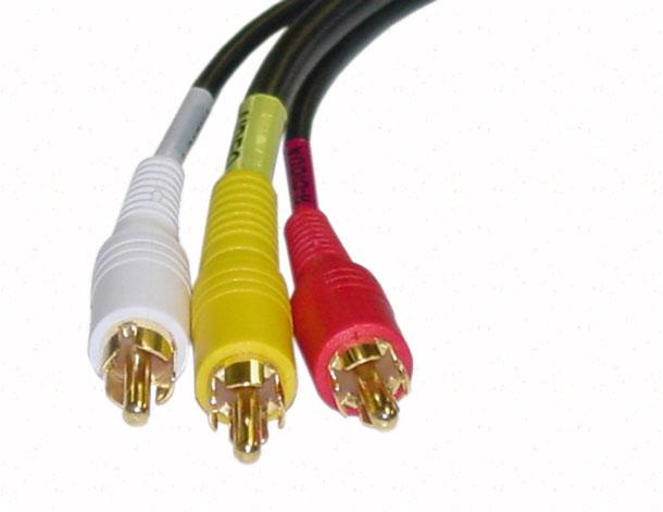 RCA кабель с тюльпанами
