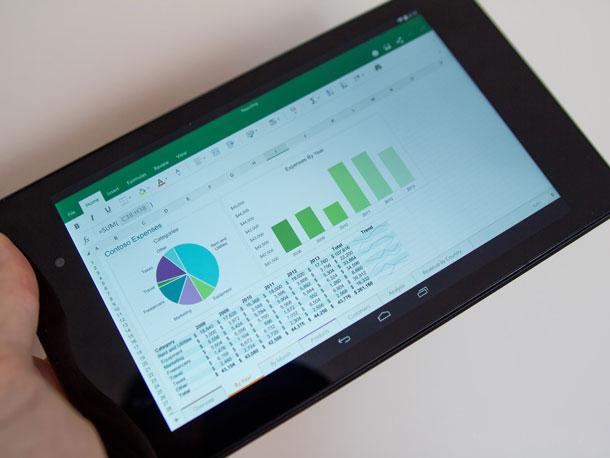 Microsoft office excel на планшете