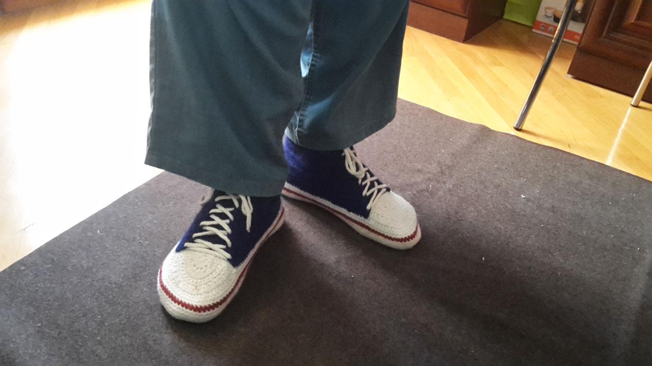 ботинки, одетые