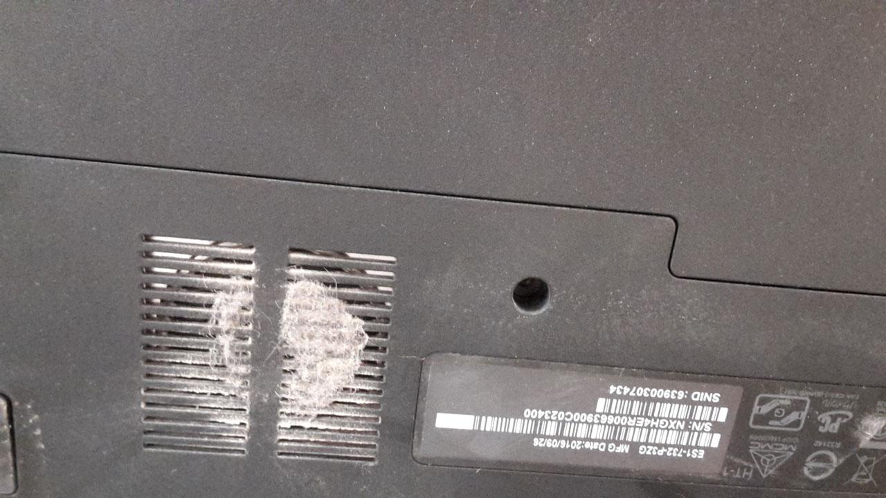 Acer вентилятор в пыли