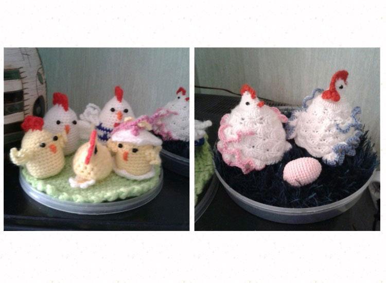 курочки с цыплятами