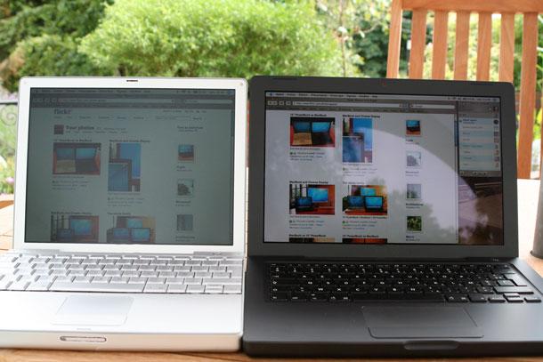 матовый и глянцевый дисплей ноутбука