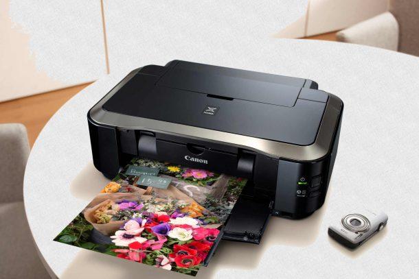 принтер со сканером напечатал фото, снятое на фотоаппарат