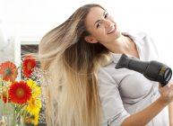 фен профессиональный для волос в работе