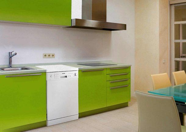 посудомоечная машина отдельностоящая на кухне красиво смотрится