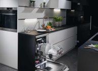посудомоечная машина встроена в интерьер