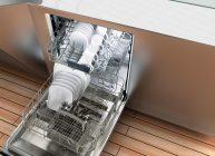 спрятанная посудомоечная машина в кухне