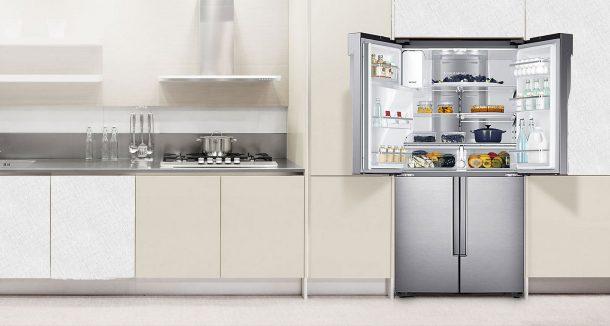 холодильник сайд бай сайд на кухне