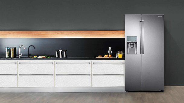 side by side серый на кухне