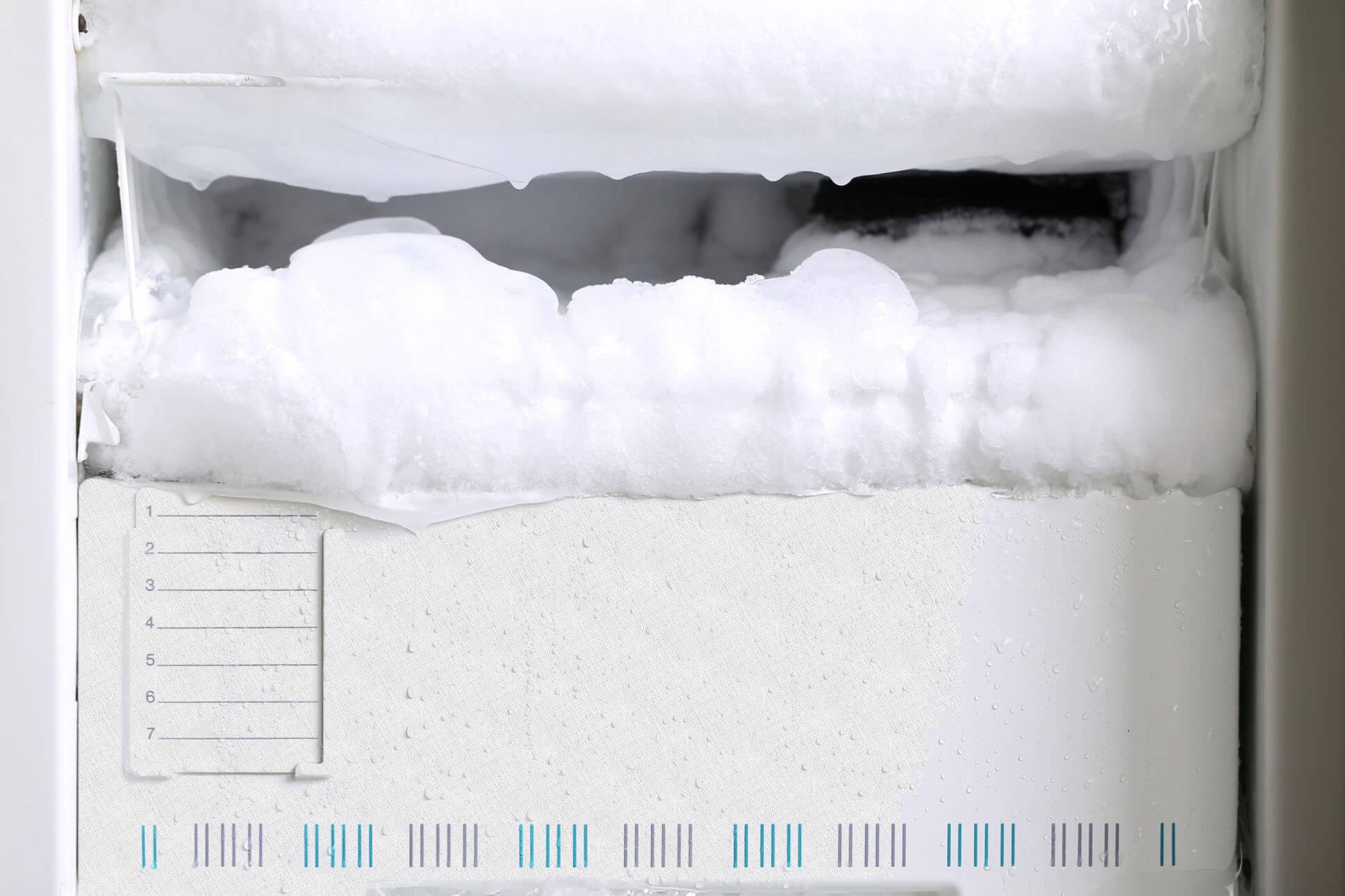 небольшой слой льда
