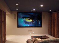 телевизор в гостиной с изображением