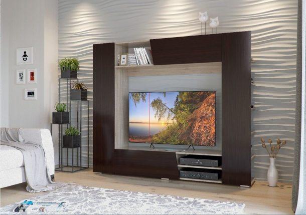 телевизор в стенке с битой полосой