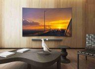 большой телевизор стоит в зале китайской фирмы