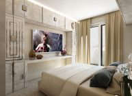 телевизор в спальне большого размера