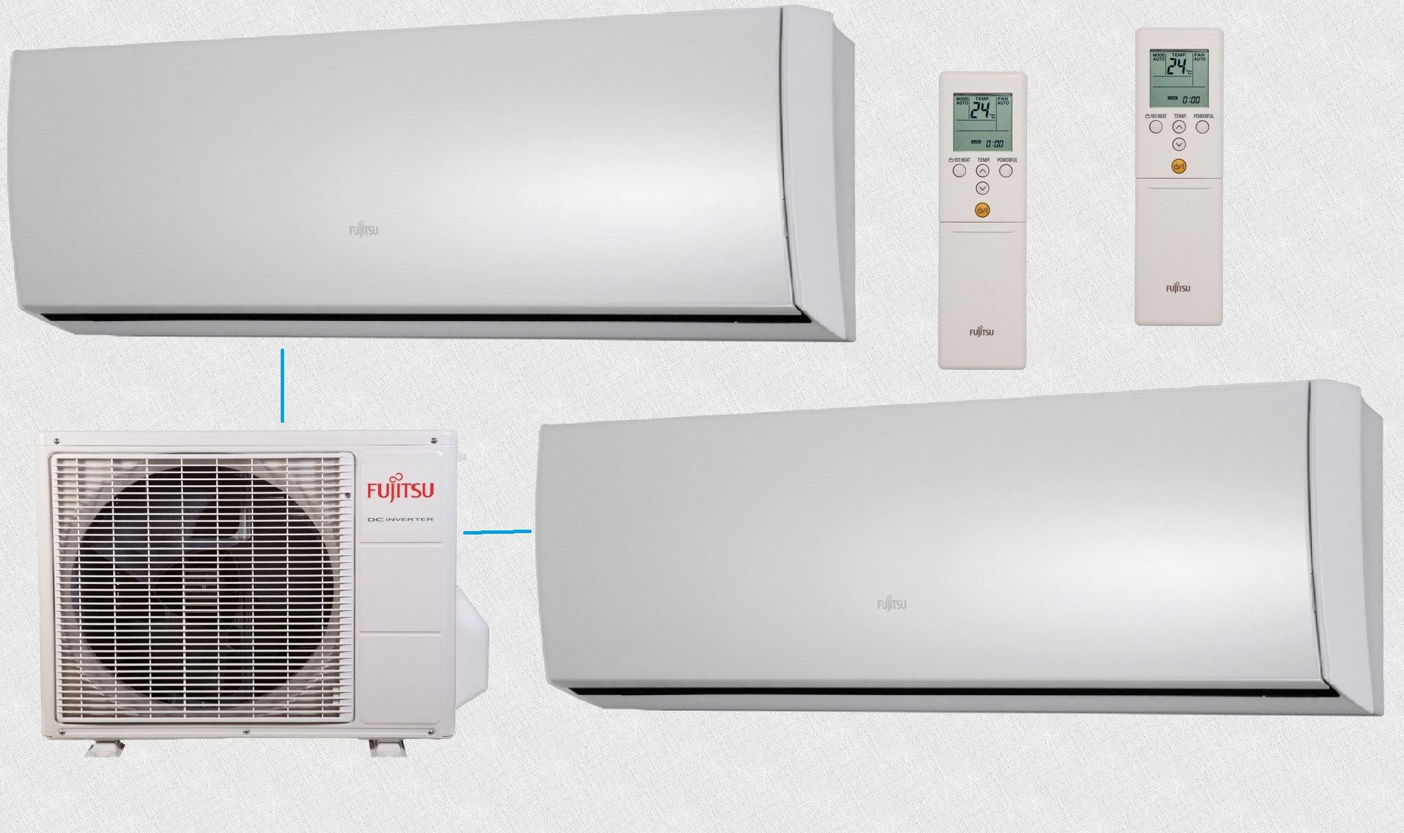 Fujitsu на 2 комнаты AOYG14LAC2 / ASYG07LUCA