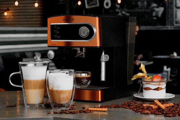 кофемашина на кухне рожковая
