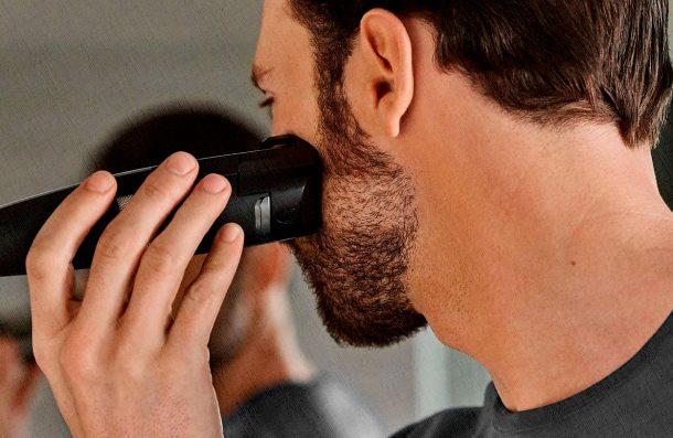машинка для стрижки бороды отлично справляется с густой щетиной