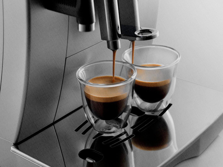 сразу на 2 персоны приготовит кофе кофемашина