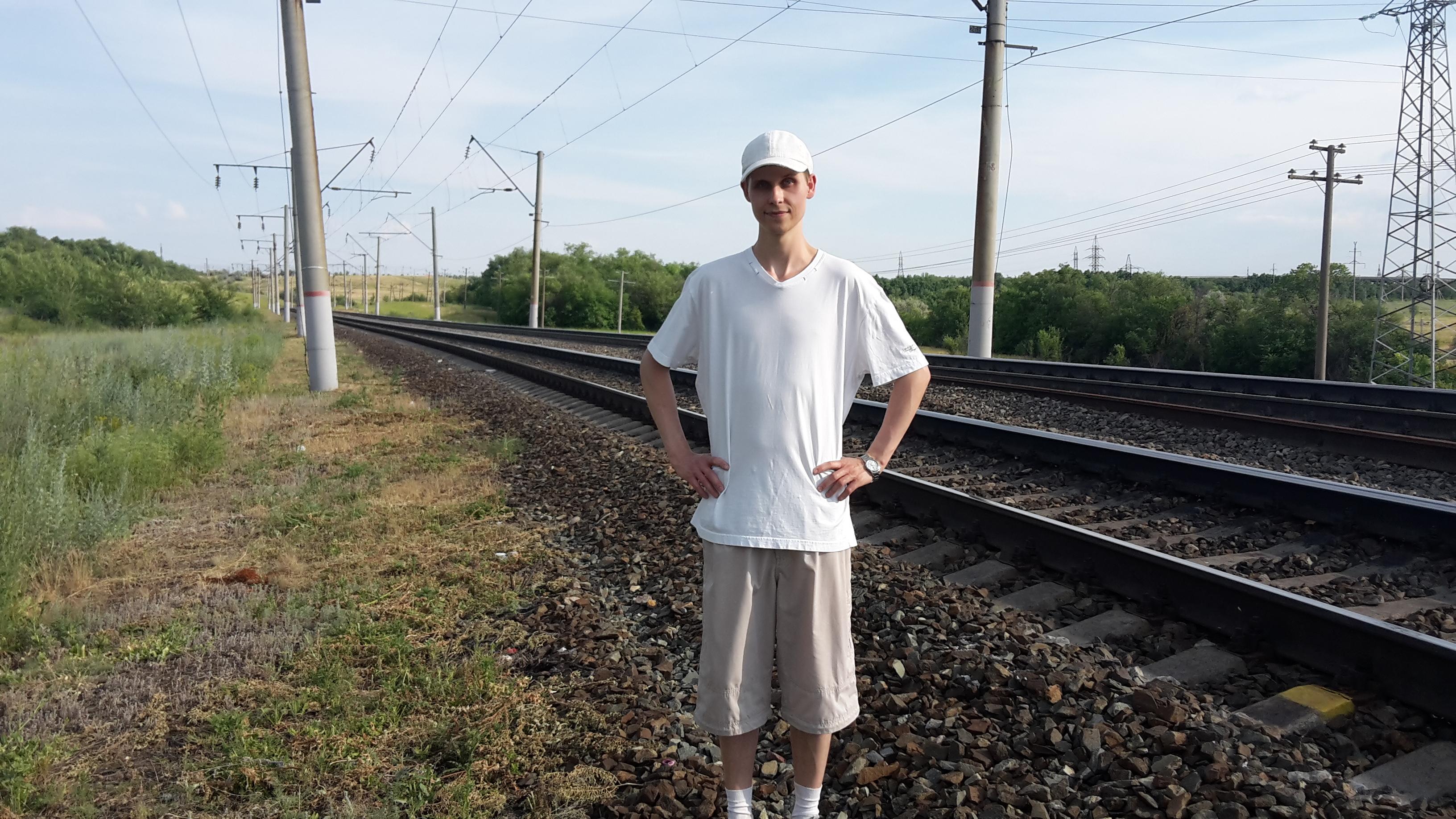 я на железной дороге около поселка Дубки