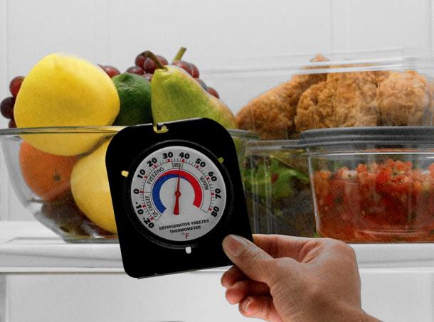 в холодильной зоне очень жарко для продуктов