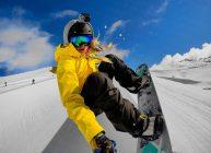 камера экшн на сноуборде спереди