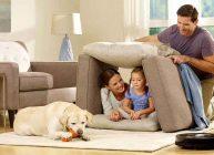 собака пылесос семья ребенок папа мама шалаш дом