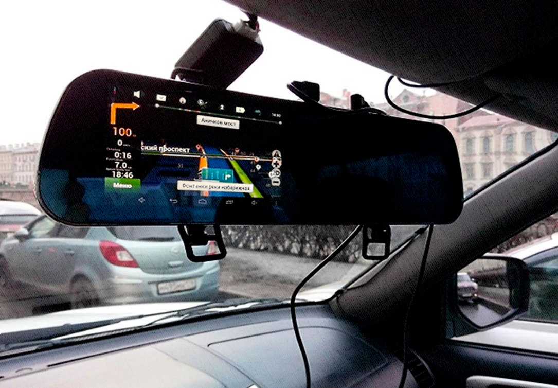 как навигатор видео регистратор-зеркало