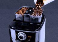 добавляем в кофемашину зерна, чтобы она перемолола и приготовила кофе