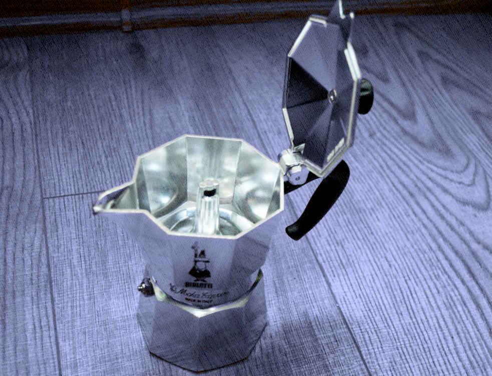 простая гейзерная машина для кофеварения дома