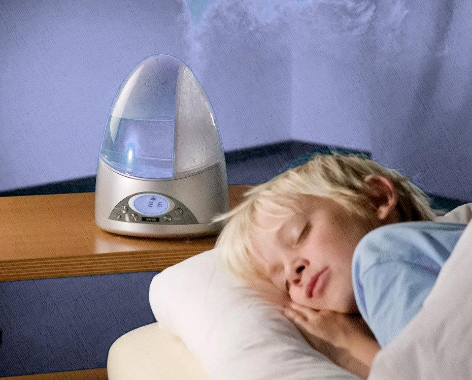ребенок спит - увлажнитель воздуха работает