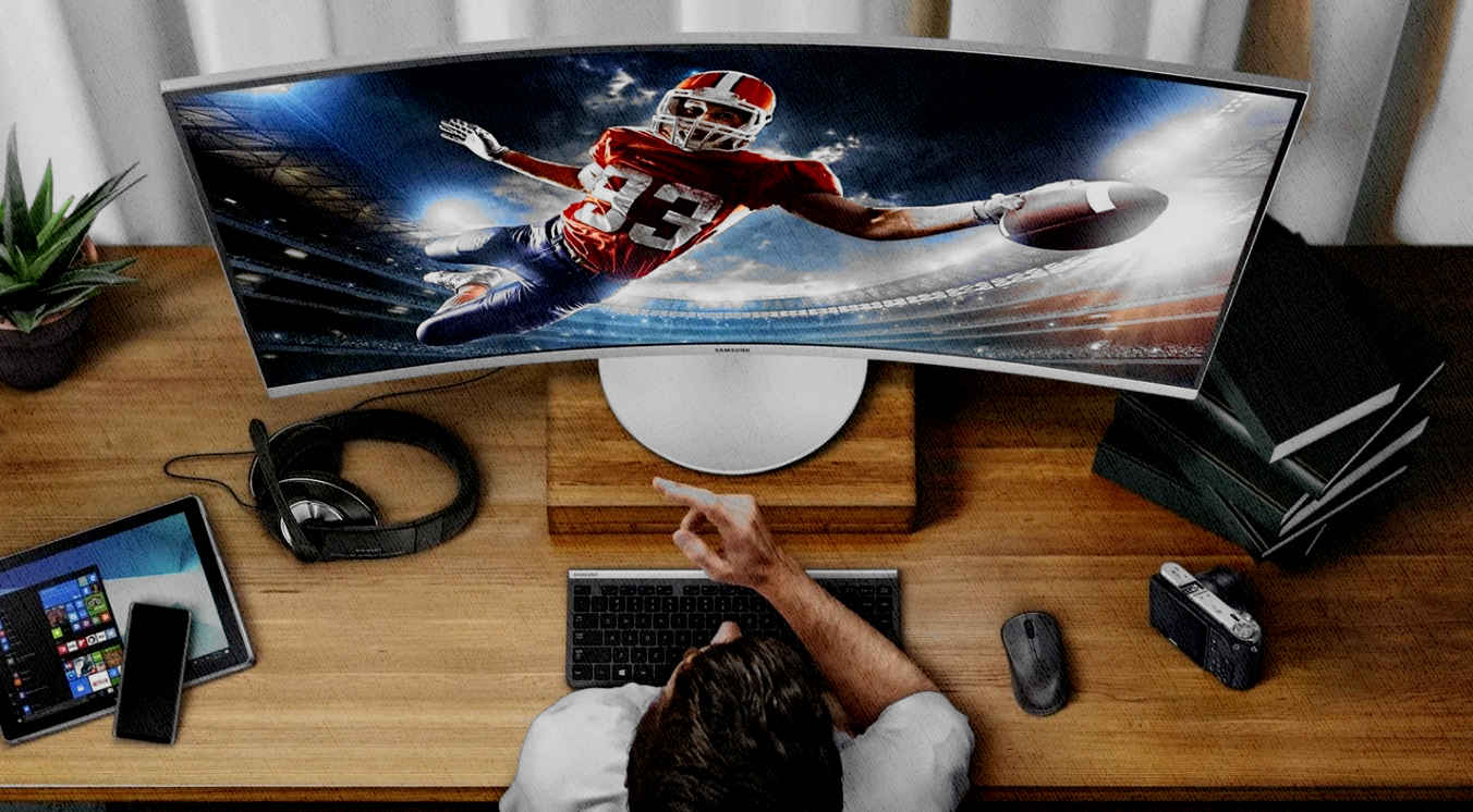 дуговой монитор для игр и просмотр фильмов