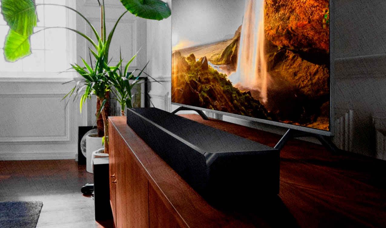 звуковая панель дома с сабвуфером и отличной настройкой