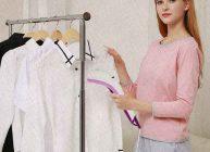 отпариватель ручной отглаживает изумительно одежду в 2021 году девушка