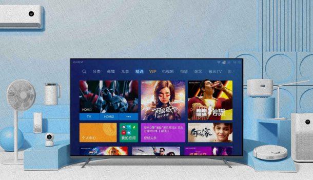 xiaomi телевизор стоит в комнате с электронникой из рейтинга 2021 от Ростислава